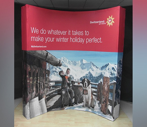 tension fabric pop-up display